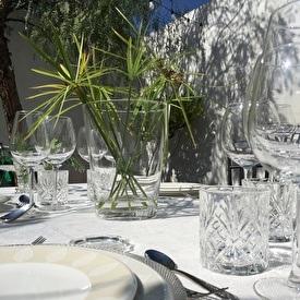 Enjoy dinner in our secret garden
