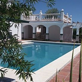 View on our pool & lounge area