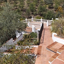 Sundeck above pool