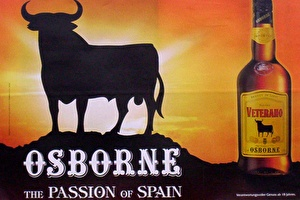 The Osborne bull, guardian of the Spanish roads